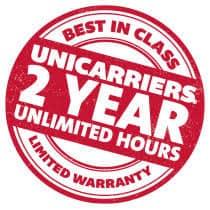 UniCarriers Best In Class Two Year Unlimited Warranty