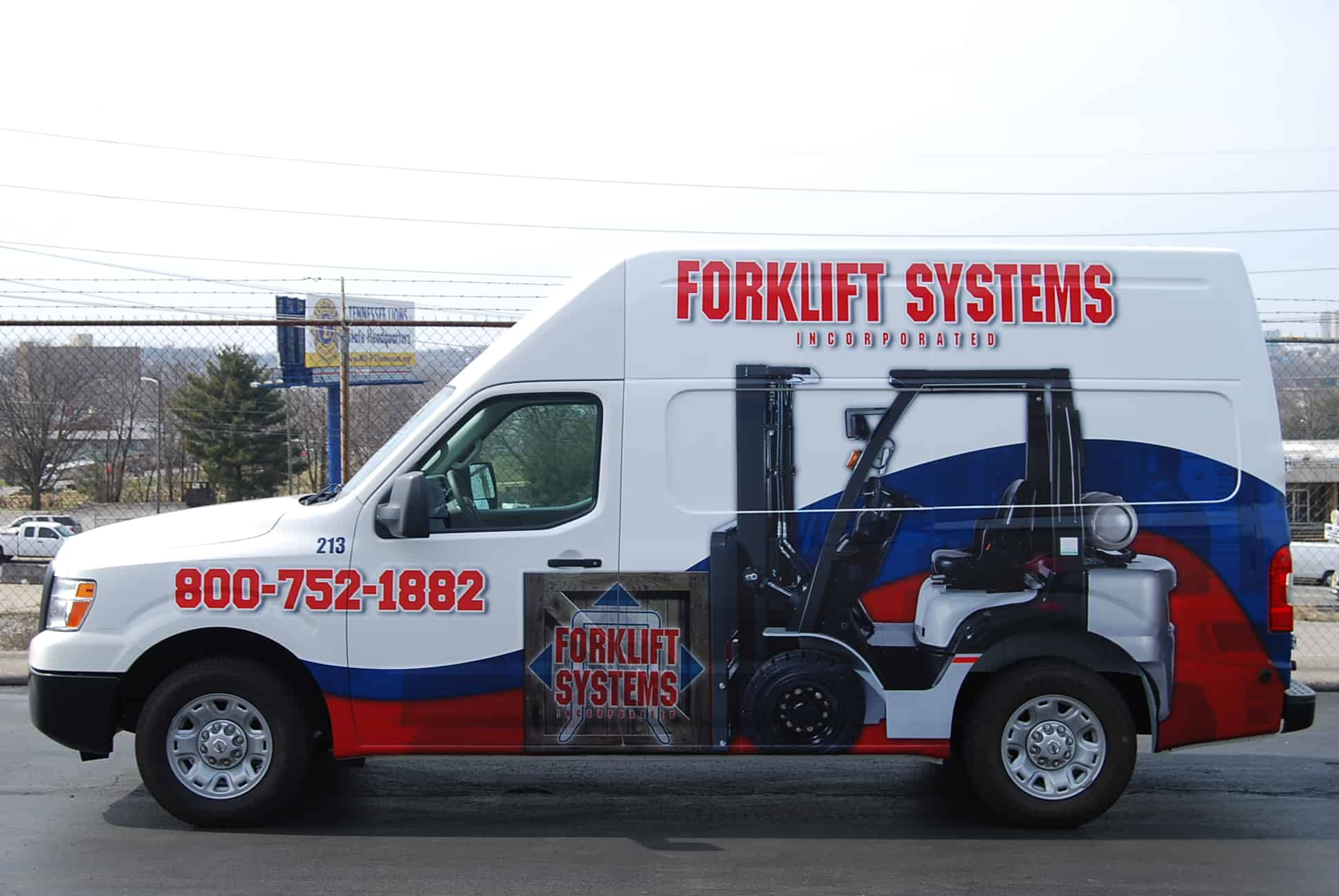 Forklift Systems Service and Repair Van for emergency and planned maintence repairs