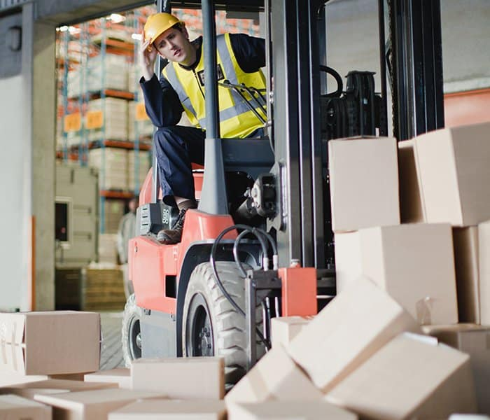 Less product damage with forklift training