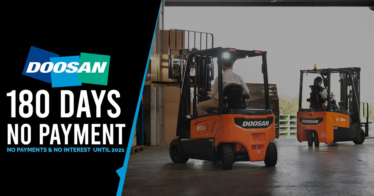 Doosan 180 days no payment no interest special