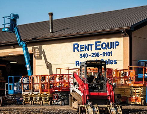 forklift equipment rental facility