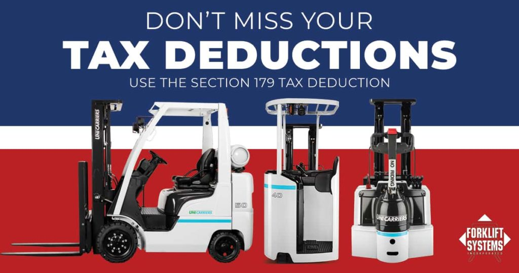 Forklift Section 179 Tax Deductions